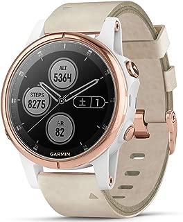 [ガーミン]GARMIN fenix 5S Plus Sapphire フェニックス 5エス プラス サファイア マルチスポーツ対応 GPS内蔵 スマートウォッチ ウェアラブル端末 流通限定モデル 腕時計 メンズ レディース ローズゴールド 010-01987-83 [正規輸入品]