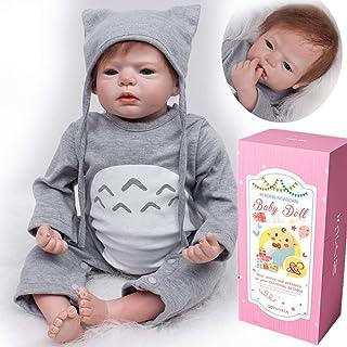 MAIHAO Muñeco Reborn bebé Chico Vinilo Silicona Realista Niño Muñecas Reborn Baby Dolls Recién Nacido 22 Pulgadas Niños Juguete
