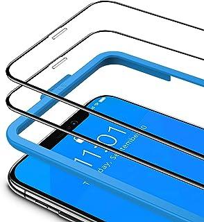 TAMOWA Skärmskydd för iPhone 11 Pro Max/iPhone Xs Max (2-pack) (6,5 tum), 3D helskärm härdat glasskydd 9H okrossbar film m...