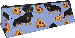 Doxie bassotti cani animali domestici carini animali domestici bassotti pizza Tiangle astuccio portapenne con cerniera sac...