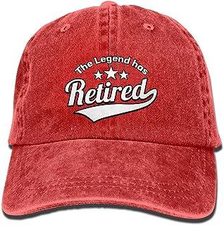 1c04e280961fe AZNM Unisex Washed The Legend Has Retired Retro Denim Baseball Cap  Adjustable Dad Hat