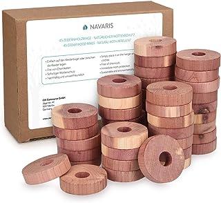 comprar comparacion Navaris 45 Discos antipolillas de Madera de Cedro - Repelente Natural de polillas para Ropa Armario cajones - 100% Biodegr...