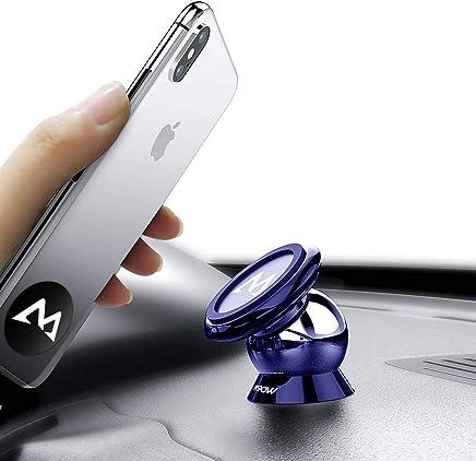 Soporte Magnético Universal con Pegatinas Metalicas, Mpow Iman Móvil Coche / Soporte Auto Car Mount Metálico 360° Rotación Apoyo Pegar a Cualquier Superficie Limpiado para iPhone7/ 6/ 6s 6 Plus, Google Pixely, Galaxy S8, Moto G5,LG G6 y Otros Smartphones