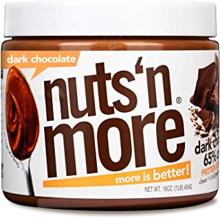 Nuts 'N More Dark Chocolate Peanut Butter Spread, All Natural High Protein Nut Butter Healthy Snack, Omega 3's and Antioxi...
