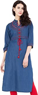 e8e818b571 Denim Women's Kurtas & Kurtis: Buy Denim Women's Kurtas & Kurtis ...