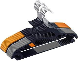 AUV ハンガー 20本組 洗濯ハンガー 衣類ハンガー すべらない 360度回転式 滑り止め 変形にくい 収納 hanger スーツ スリム 多機能 乾湿両用