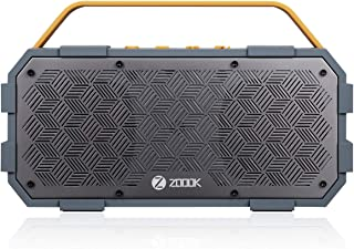 Zoook Rocker Torpedo (50W) Bluetooth Speaker with AUX-In/Hands-free/Heavy Bass/Waterproof and shock-proof design Speaker - Grey and Yellow