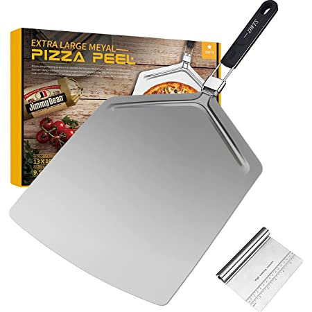 Large Pizza Peel 16 inch   DWTS Pizza Peel Extra Large Pizza Paddle Stainless Steel with Folding Handle for Indoor and Outdoor Pizza Oven