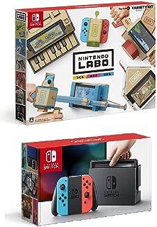 Nintendo Switch Joy-Con (L) ネオンブルー/ (R) ネオンレッド + Nintendo Labo (ニンテンドー ラボ) Toy-Con : Variety Kit - Switch セット