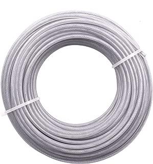 NAVARME Strimmer Brushcutter Wire Cord Line 2.7mm Steel Wire Gray 183g Trimmer