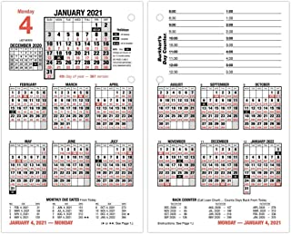 """2021 Daily Desk Calendar Refill by AT-A-GLANCE, 4-1/2"""" x 7-3/8"""", Loose-Leaf (E7125021)"""