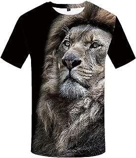 Lion Tshirt Men Size S-XXL 3D T Shirt Animal T-Shirts for Mens Clothing
