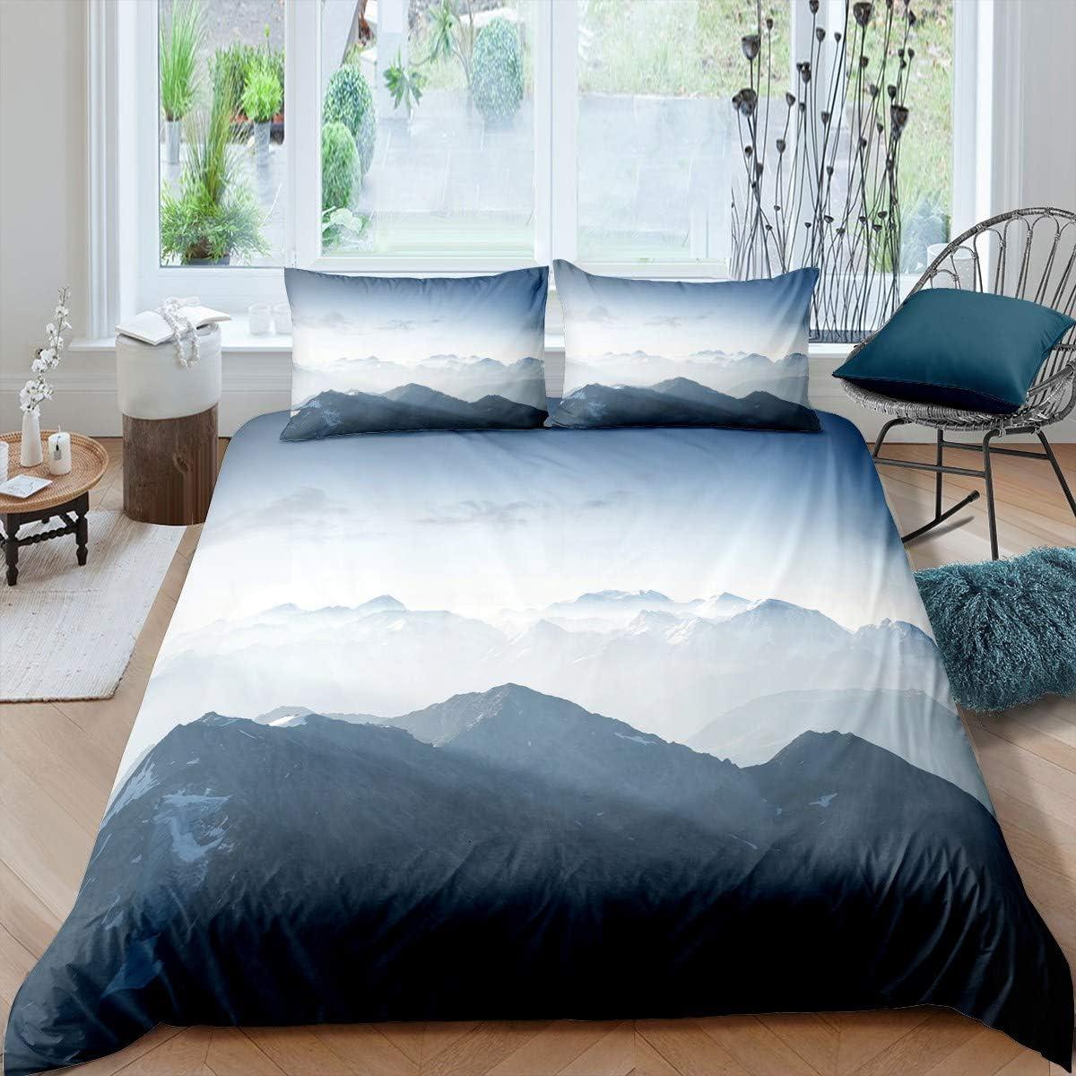 Nature 人気激安 Duvet Cover Set Boys Comforter Landscape 定価
