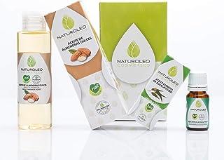 Naturoleo Cosmetics - Aceite Almendras Dulces NAT + Eucalipto BIO - Pack Masaje Aromaterapia 100% Puro y Ecológico Certificado - 100 ml + 10 ml