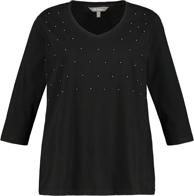 Ulla Popken Womenswear Fashionable Plus Size V-N Oversize Accent Curvy Bargain sale Pearl