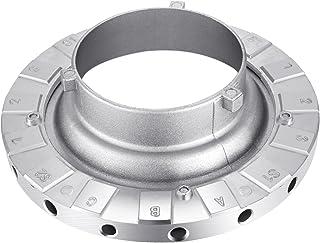Neewer Metal Bowens Velocidad Anillo Adaptador de Velocidad para Bowens Softbox para Speedlite Estudio Flash Estroboscopio Monolight