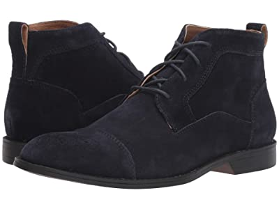 Stacy Adams Wexford Cap Toe Chukka Boot (Navy Suede) Men