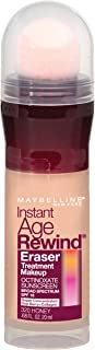 Maybelline New York Instant Age Rewind Eraser Treatment Makeup, Honey 320, 0.68 Fluid Ounce