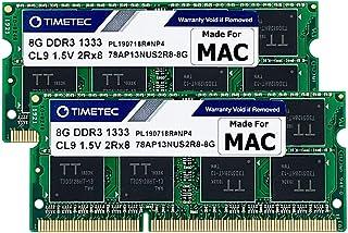 Timetec Hynix IC 16GB(2x8GB) MAC用 DDR3 1333 MHz PC3 204 Pin SODIMM Apple専用増設メモリ 永久保証 (16GB(8GB×2枚))