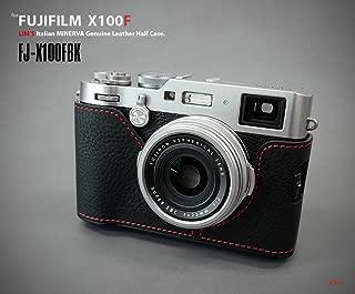 LIM'S FJ-X100FBK Genuine Leather Camera Metal Grip Half Case for Fuji X100F, Black