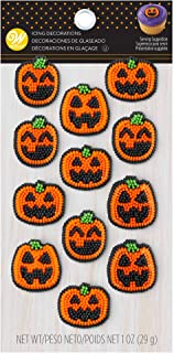 Jack-O-Lantern Pumpkin Icing Decorations, 12 Count by Wilton