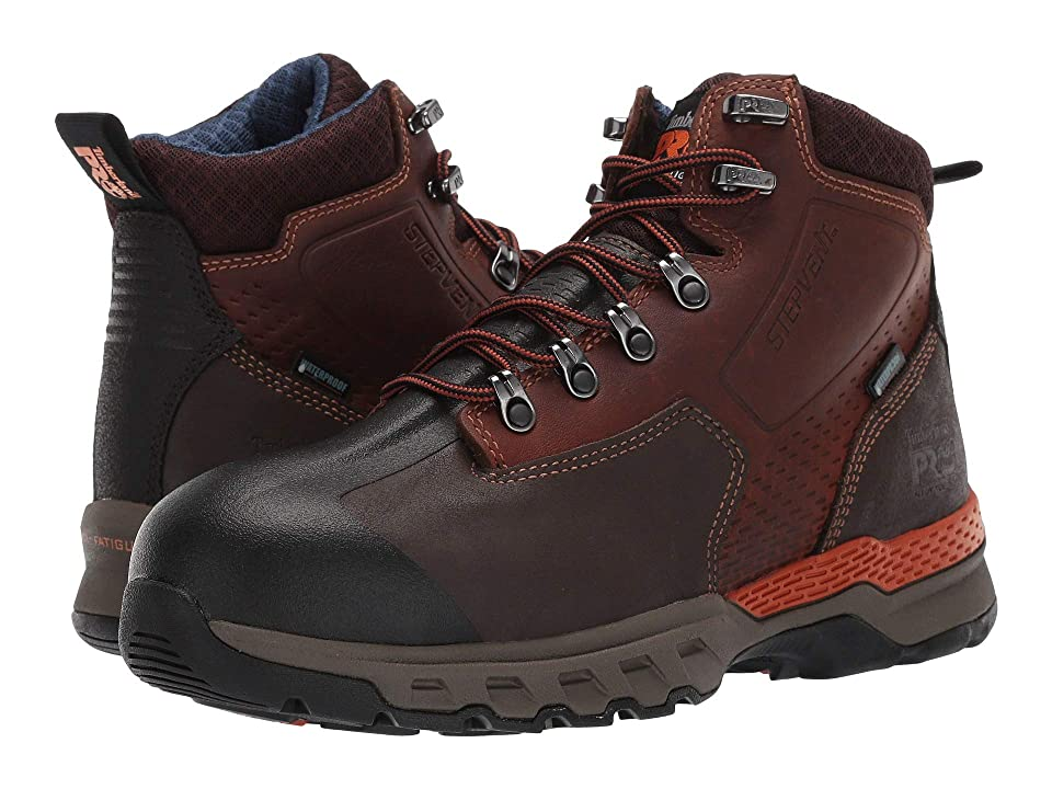 Timberland PRO Downdraft 6 Alloy Safety Toe Waterproof (Brown Full Grain Leather) Men