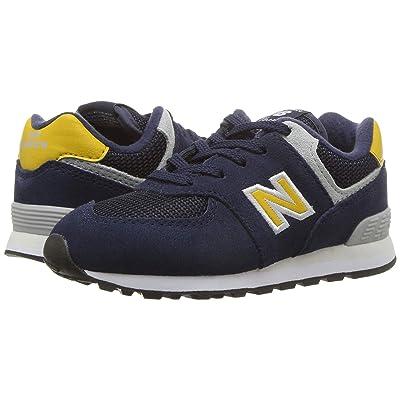 New Balance Kids IC574v1 (Infant/Toddler) (Pigment/Brass) Boys Shoes