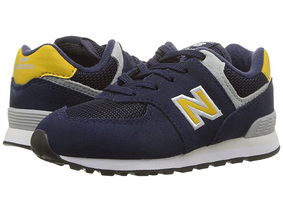 New Balance Kids IC574v1 (Infant/Toddler) (Pigment/Brass) Boys Shoes