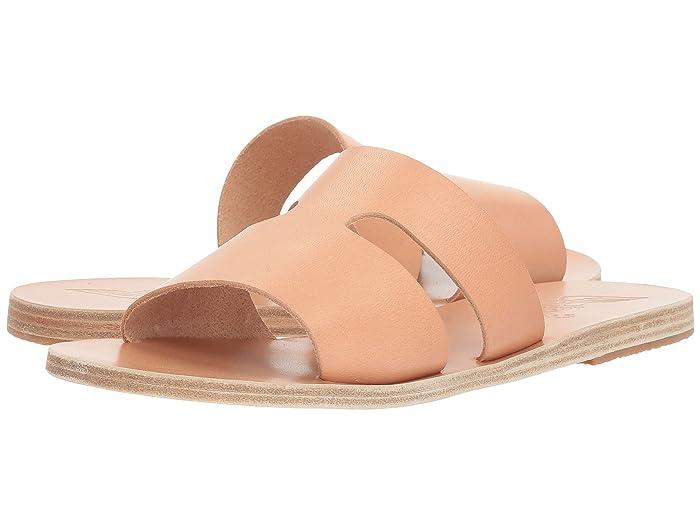 Ancient Greek Sandals  Apteros (Natural Vachetta) Womens Sandals