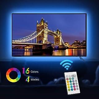 comprar comparacion Tiras LED Iluminación (78.7in / 2m. en 4 bandas), EveShine RGB TV LED operadas con mando a distancia para Televisores de 4...