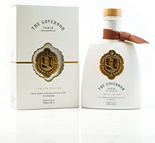 The Governor, Ultra Premium Unfiltered Extra Virgin Olive Oil | Olive Oil Polyphenols with Robust Health-Giving Properties | Cold-Pressed Olive Oil In a Limited Edition Luxury Glass Bottle | 500ml