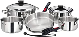 Magma Products, A10-360L 10 Piece Gourmet Nesting Stainless Steel Cookware, Gas, Electric or Ceramic Cooktops (Renewed)
