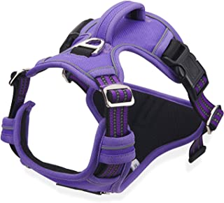 No Pull Harness for Large Dogs Medium Dogs - Adjustable Easy Control Dog Harness with Handle - Durable Reflective Vest Har...