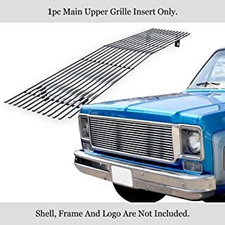 APS Stainless Steel 304 Billet Grille Grill Compatible with 1973-80 Chevy C K Pickup Suburban Blazer C85008S