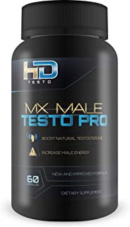 MX Male Testo Pro - by HD Testo - Ginseng Test Boost Blend for Natural Test Boost, Weight Loss, and Male Energy - Help Restore Youthful Energy, Vigor, and Metabolism with This Natural Herbal Blend
