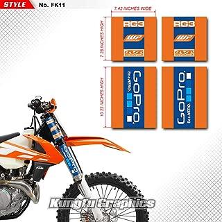 Kungfu Graphics Upper Mid Fork Tube Decal Kit (Pack of 4), Orange