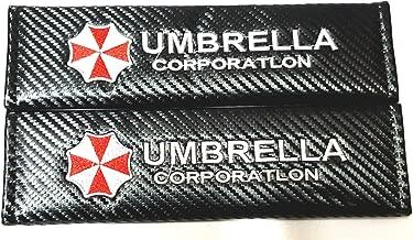 Vestian 2X Carbon Fiber Sport Seat Belt Cover Shoulder Pad Cushion with Resident Evil Umbrella Corporation Racing