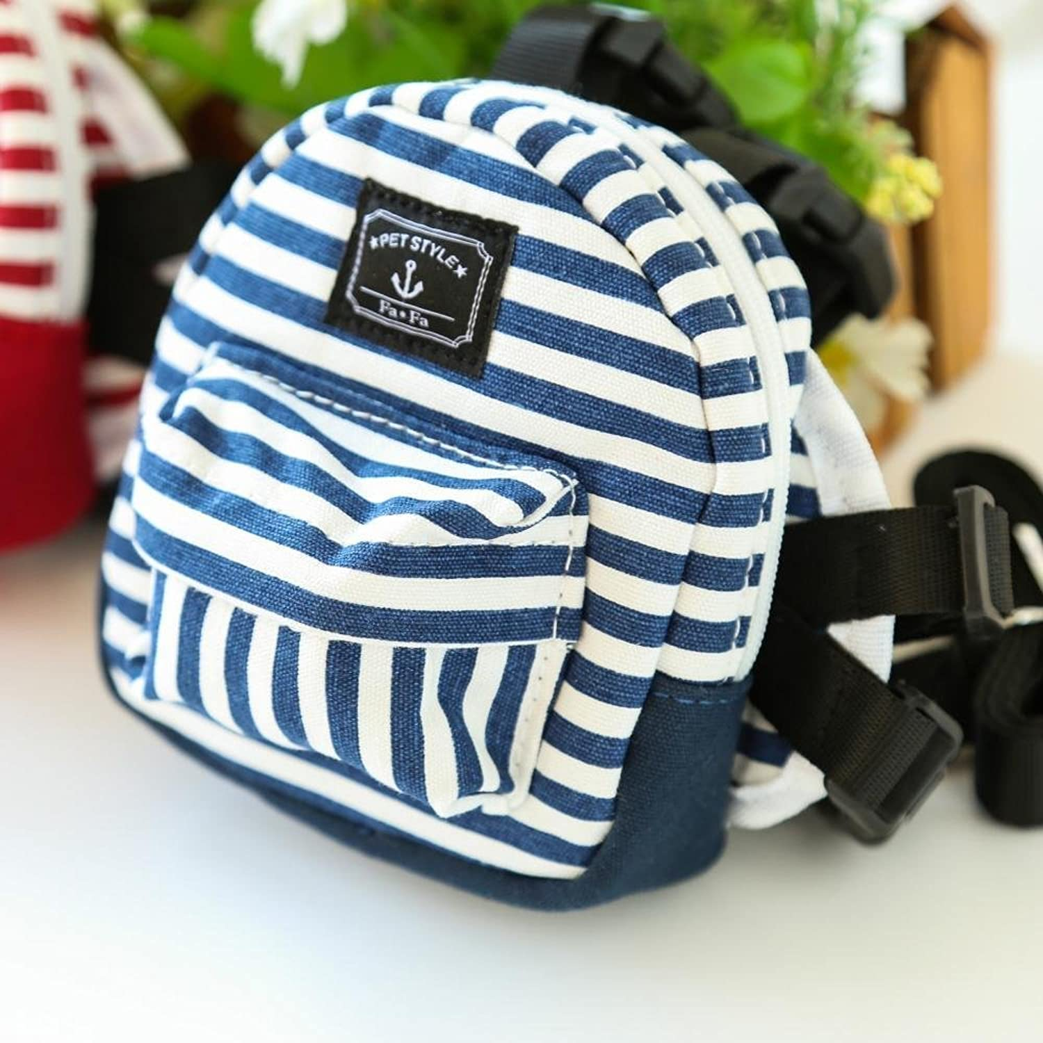 Daeou Pet Backpack Pocket Stripes Out from Backpack Leisure Backpack