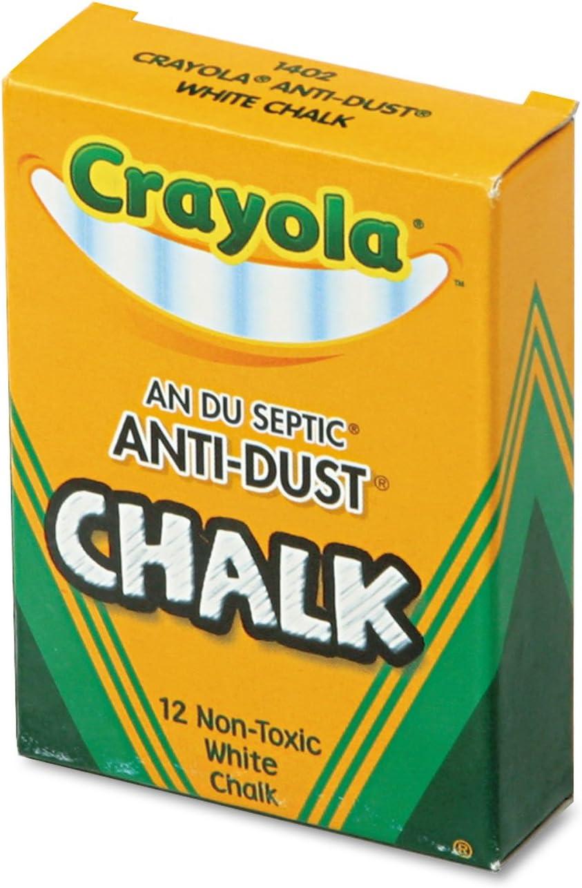 Crayola 501402 Nontoxic Anti-Dust Chalk Fixed price for sale Box Ranking TOP10 12 Sticks White