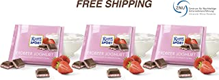 Milk Chocolate with Strawberry Yoghurt Cream 3 x 100 g, Ritter Sport/Germany