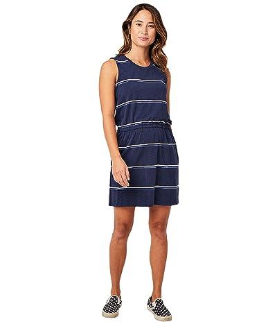Carve Designs Camila Dress (Navy Vintage Stripe) Women