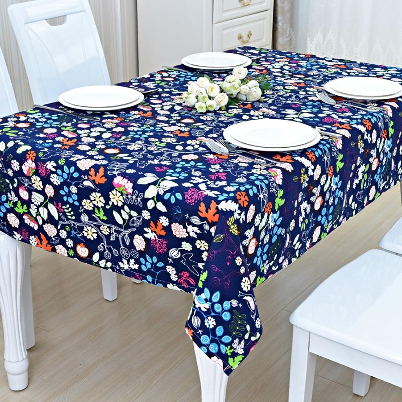 DTGERNJGFD Tischdecken Tischsets TVSchrank Tuch Tischdecken Tuch Tischdecke Decke pastoralen Stil Tischdecke Cotton Tuch RestaurantG 145x220cm(57x87inch)