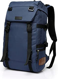 Vaschy Water-Resistant Hiking Daypack Travel School Backpack 15.6in Laptop Blue