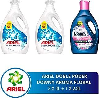 Ariel + Downy - Paquete con Detergente líquido 6L y Suavizante floral, 2.8 L