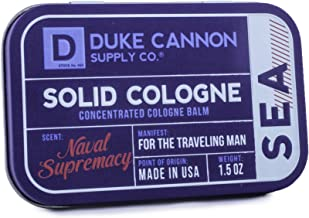 Duke Cannon Men's Solid Cologne, 1.5 ounce - Sea (Naval Supremacy Scent)