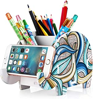 Generous Cell Phone Stand Cute Elephant Phone Stand Tablet Desk Bracket With Pen Pencil Holder Compatible Smartphone Desk Decoration Mu Desk Accessories & Organizer