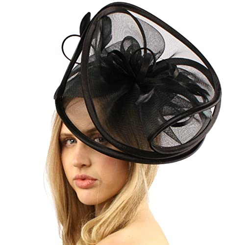 Feathers 3 Tier Layer 2 Tone Headband Fascinator Millinery Cocktail Hat a34da63b92b