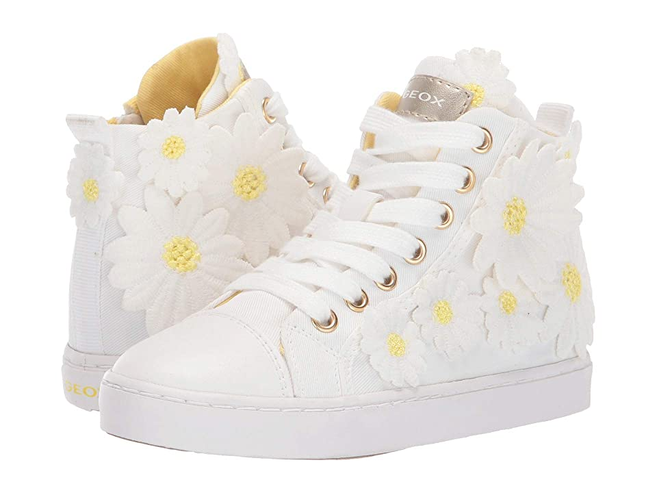 Geox Kids Ciak Girl 67 (Little Kid) (White) Girl