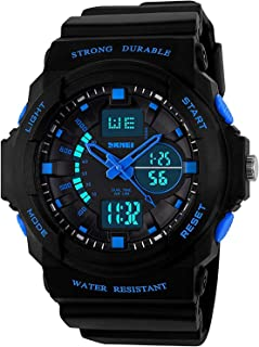 Boys Girls Waterproof LED Sports Watches, Children Digital Analog Electronic Outdoor Wristwatch with Alarm for Kids Boy with Timer
