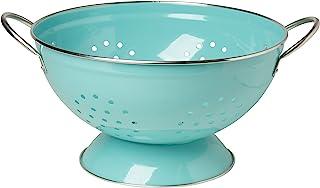 Now Designs Metal Colander, 3-Quart, Turquoise - 5005003aa